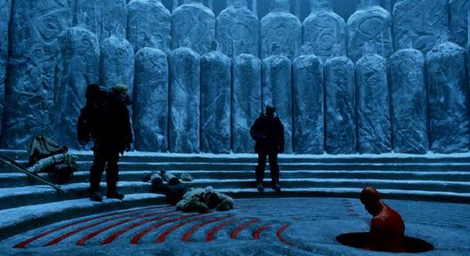 Set narrative and design in Guillermo del Toro - Hell Boy Ritual