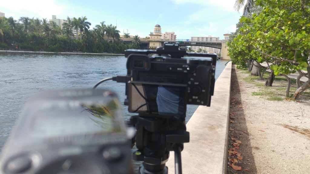 Time lapse in the scorching heat
